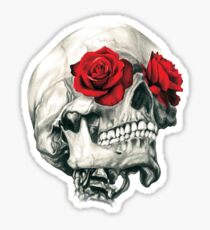 Rose Eye Skull Sticker