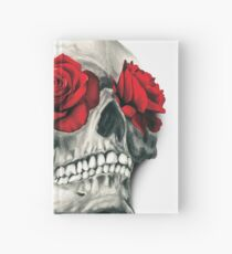 Rose Eye Skull Hardcover Journal