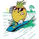 Pineapple Surfer by 101nine