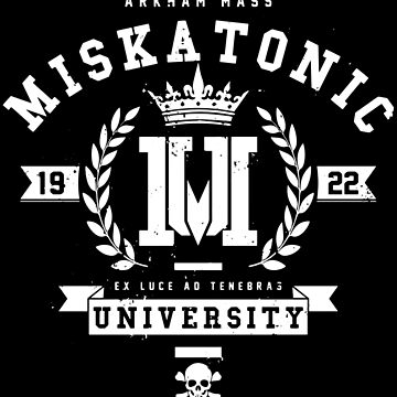 Miskatonic University Crest by deadbirdart