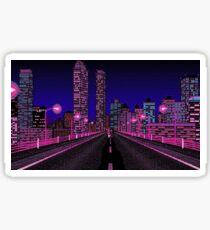 A City Skyline at night Sticker