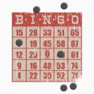 Hipster kitsch vintage bingo card game card by BigMRanch