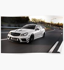 Wicked C63 AMG Black Series on the move. Poster