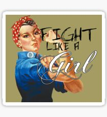 Fight like a Girl, Rosie Riveter Sticker