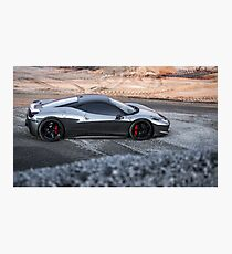 Chrome Ferrari 458 Italia Photographic Print