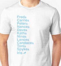 Portlandia Characters (Classic Blue) Unisex T-Shirt