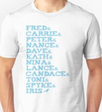 Portlandia Characters (Blue) Unisex T-Shirt