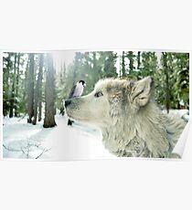 Der Wolf und der Vogel Poster
