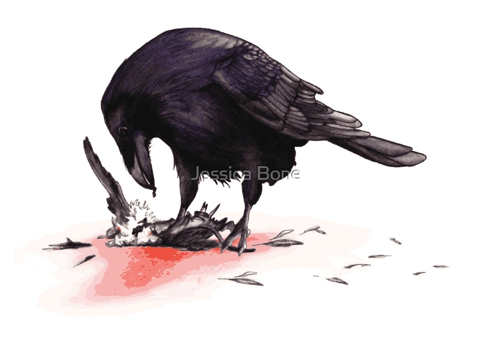 Crow, Bloody Snow 2 by Jessica Bone