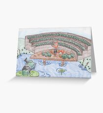 Reddy Fox and the Frog Chorus Greeting Card