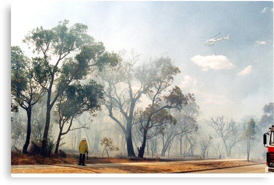 Fire, Perth, Western Australia by Margaret  Hyde