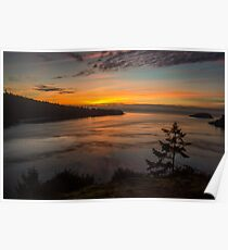 Deception Pass Sunset Poster