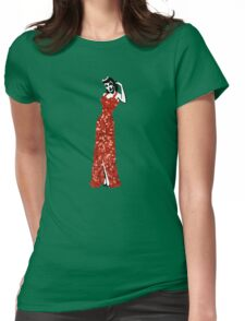 red vintage burlesque pin up Womens Fitted T-Shirt