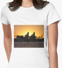 Industrial Sunset  Womens Fitted T-Shirt