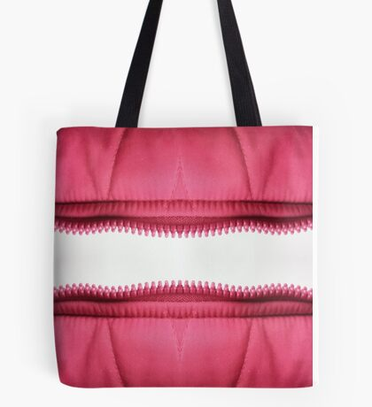 Pink zipper Tote Bag