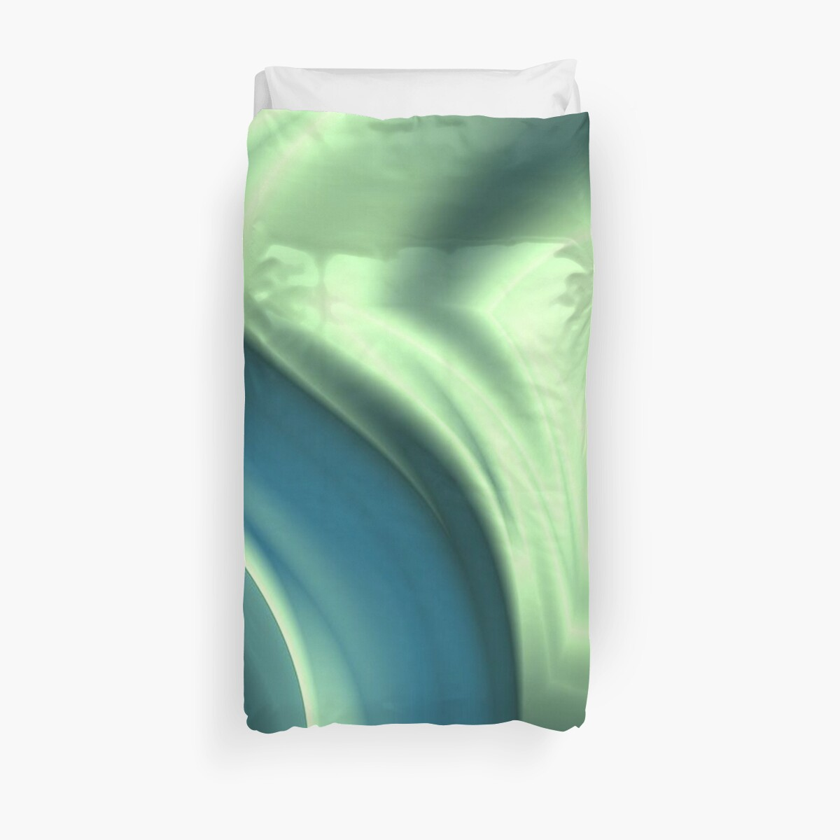 Basic Beliefs Abstract In Peppermint Green and Jade by taiche