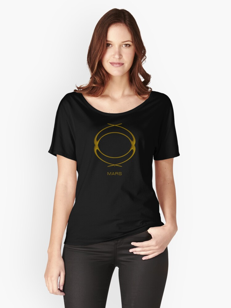 Astrology Symbol For Mars Women's Relaxed Fit T-Shirt Front