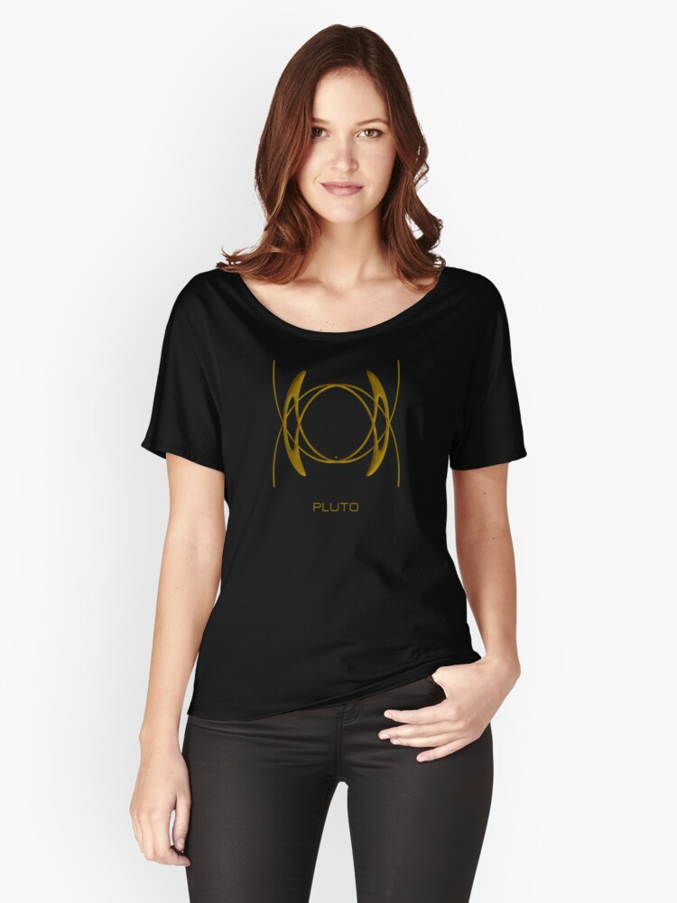 Astrology Symbol For Pluto Women's Relaxed Fit T-Shirt Front