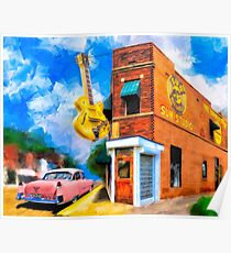 Musical Memories - Sun Studio in Memphis Tennessee Poster