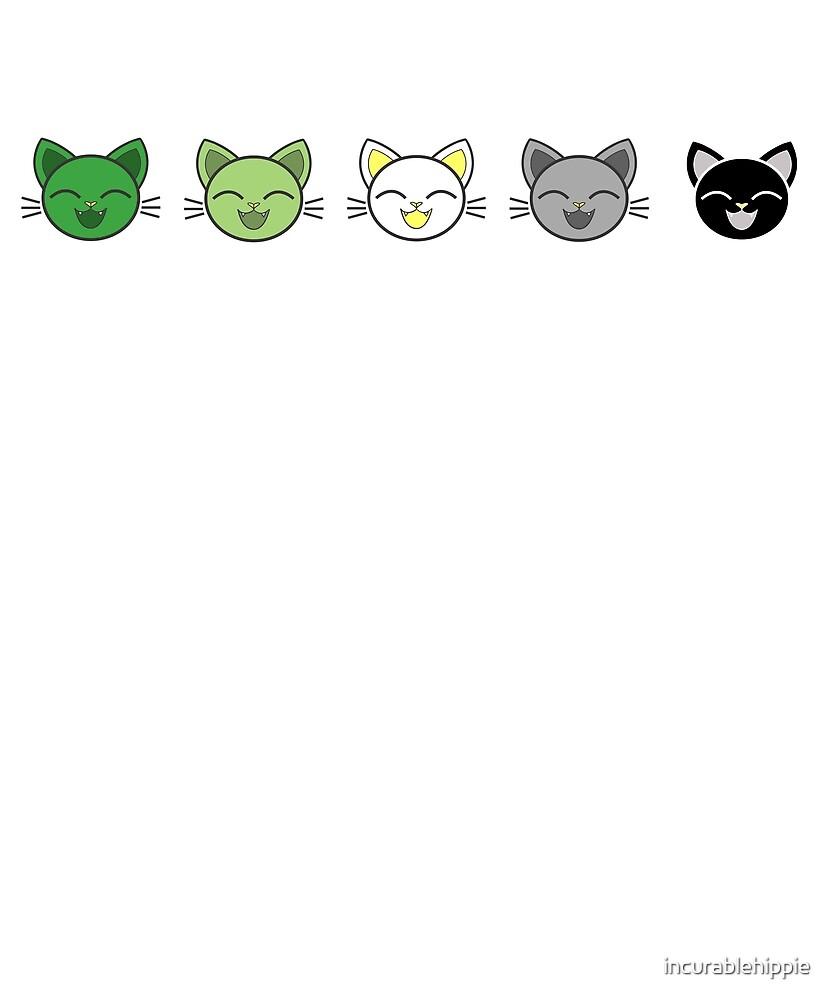 Super-cute aromantic kitties LGBTQIA aro by incurablehippie