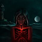 """""""The Eternal Light """"   -  (Dark Night of the Soul Art Illustration)  by Leah McNeir"""