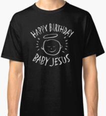 Happy Birthday Baby Jesus - Religious Chalkboard Merry Christmas - Chalk Classic T-Shirt