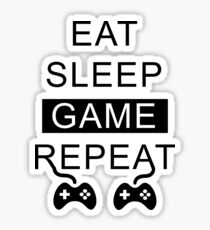Eat Sleep Game Repeat Sticker