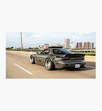 Rocket Bunny RX7 on the move Photographic Print
