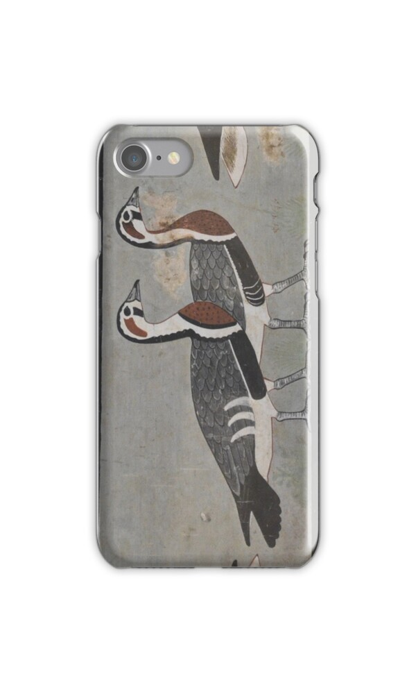 Painting of egyptian geese iphone cases skins by ommik for Egyptian fresco mural painting