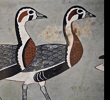 Painting of Egyptian Geese by Ommik