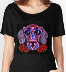 Sugar skull puppy Women's Relaxed Fit T-Shirt