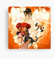 Juggling Cats Canvas Print
