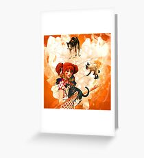 Juggling Cats Greeting Card