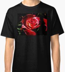 Red Rose Fractalius Classic T-Shirt