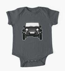 'Full Front Steel Bull Bar' Sticker / Decal Design for Jeep Wrangler Fans - Black Outline Kids Clothes