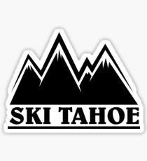 Ski Tahoe Mountains Sticker