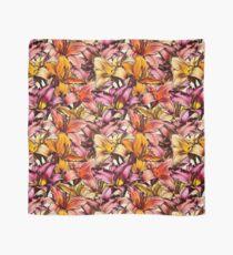 Daylily Drama - a floral illustration pattern Scarf