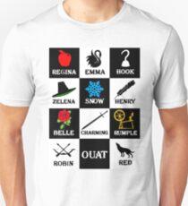 Oncer T-Shirt. Regina, Emma, Hook, Zelena, Snow, Henry, Belle, Charming, Rumple, Robin, Red Unisex T-Shirt