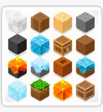 Mine Cubes Elements Isometric Sticker