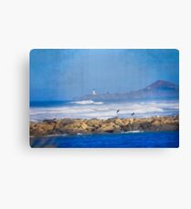 Newport Oregon Yaquina Lighthouse - In The Distance Canvas Print