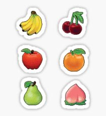Pixel Basic Fruits sticker set Sticker