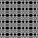 Arrows and Diamond Black and White Pattern 2 by taiche