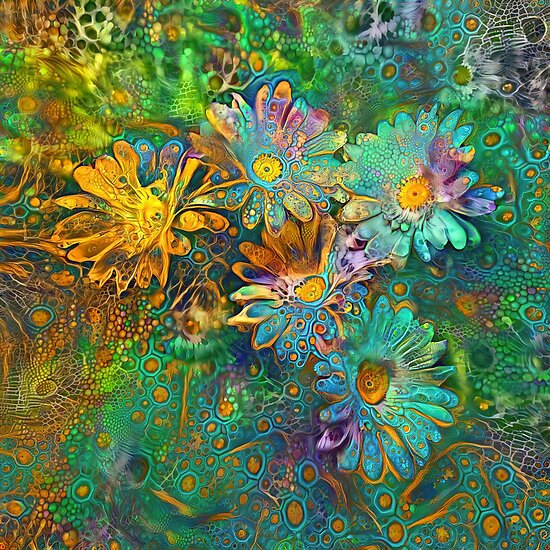Flower abstract digital painting