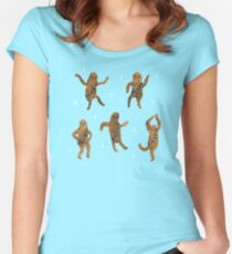 Wookie Dance Party Women's Fitted Scoop T-Shirt