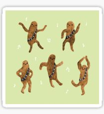 Wookie Dance Party Sticker
