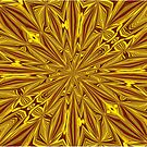 Luxury Red and Gold Foil Christmas Kaleidoscope by taiche