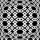 Diamond and Circles Black and White Pattern by taiche