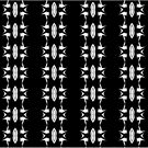 Barbed Wire Black and White Pattern by taiche