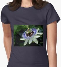 Blue Crown Passion Flower Womens Fitted T-Shirt