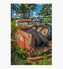 Rust And Tires Photographic Print